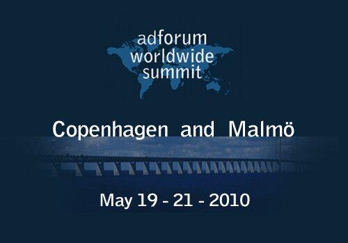 Copenhagen and Malmö 2010